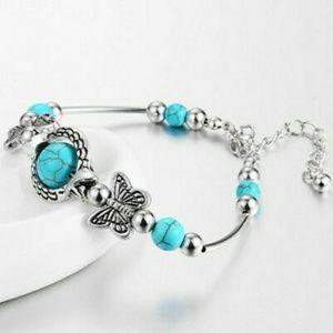 Boho Turquoise Butterfly Bracelet